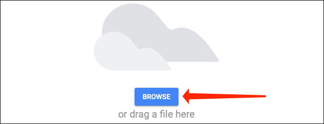 Click the browse button on the Upload tab