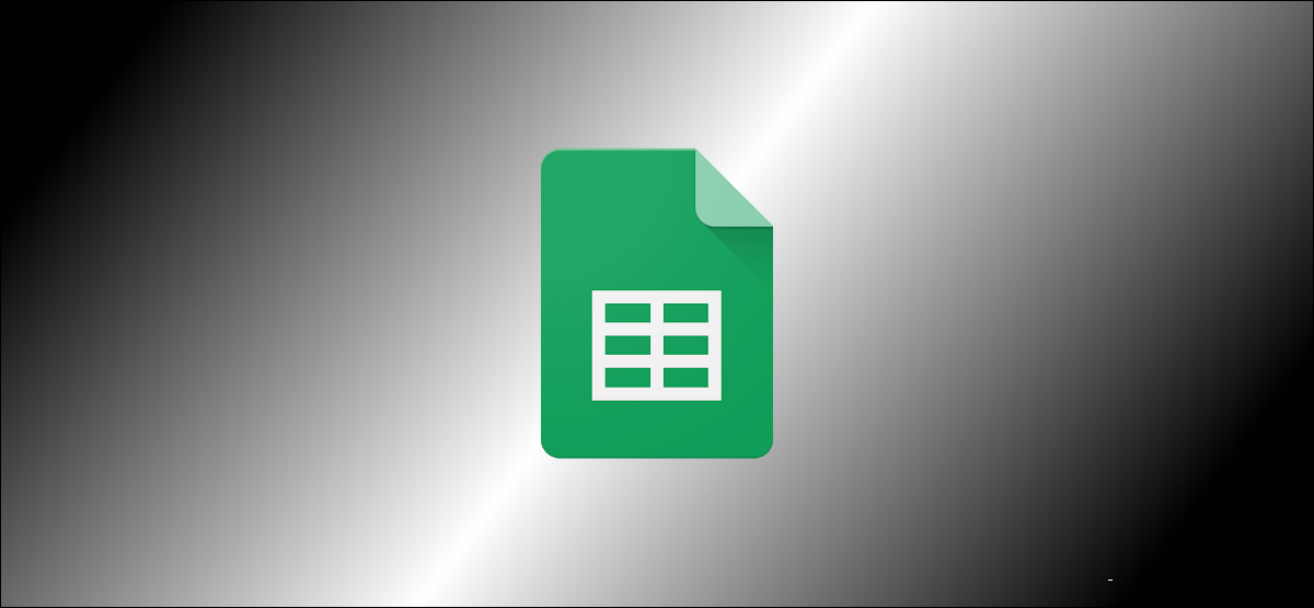 Google Sheets logo with a black-and-white gradient