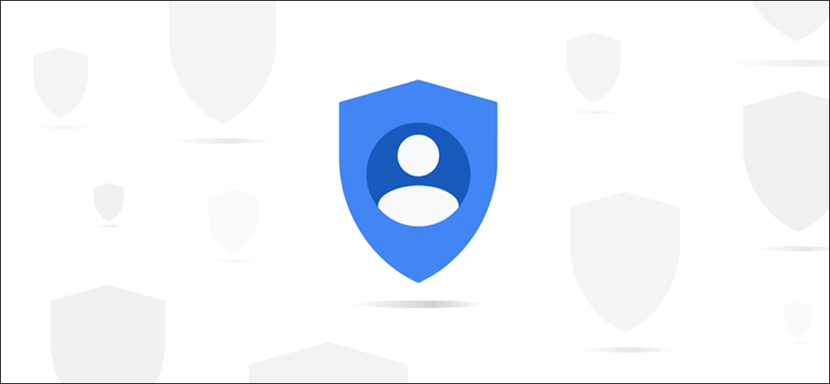 An abstract blue Google privacy icon.