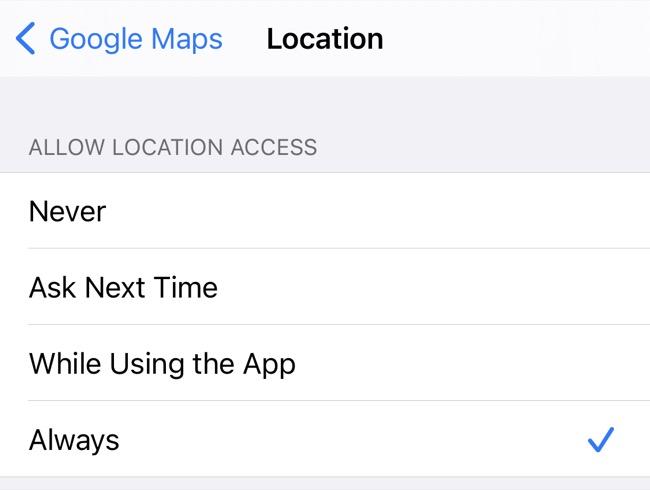 Paramètres de localisation de Google Maps