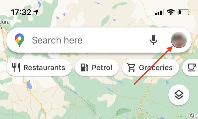 Google Maps user icon