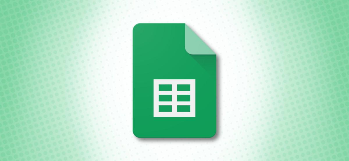 Google Sheets Logo on Green Background