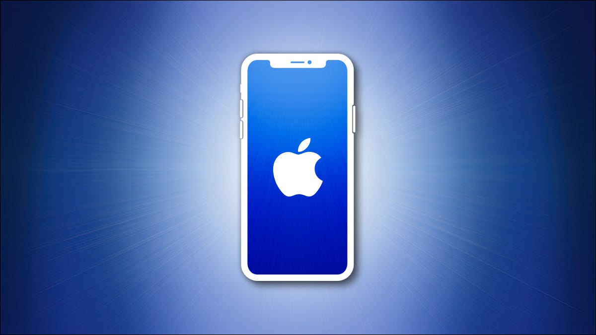 iPhone outline with blue screen on a blue background