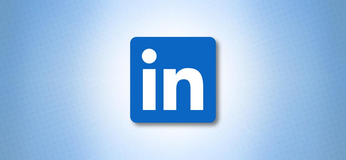 Логотип LinkedIn на синем