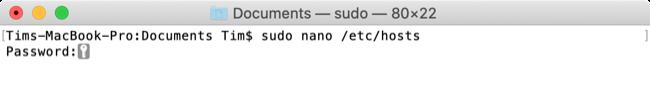 Edit macOS Hosts File Command