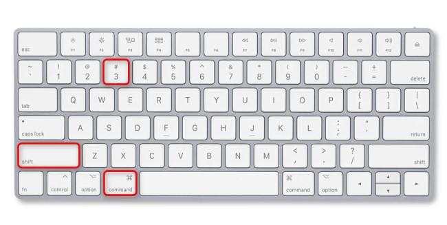 Press Command+Shift+3 on your Mac keyboard.