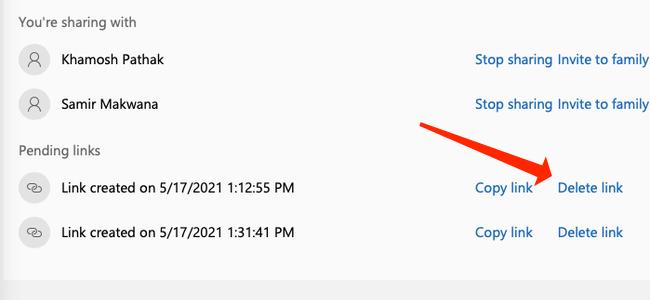 """Cliquez sur """"Supprimer le lien"""" pour supprimer le lien d"""