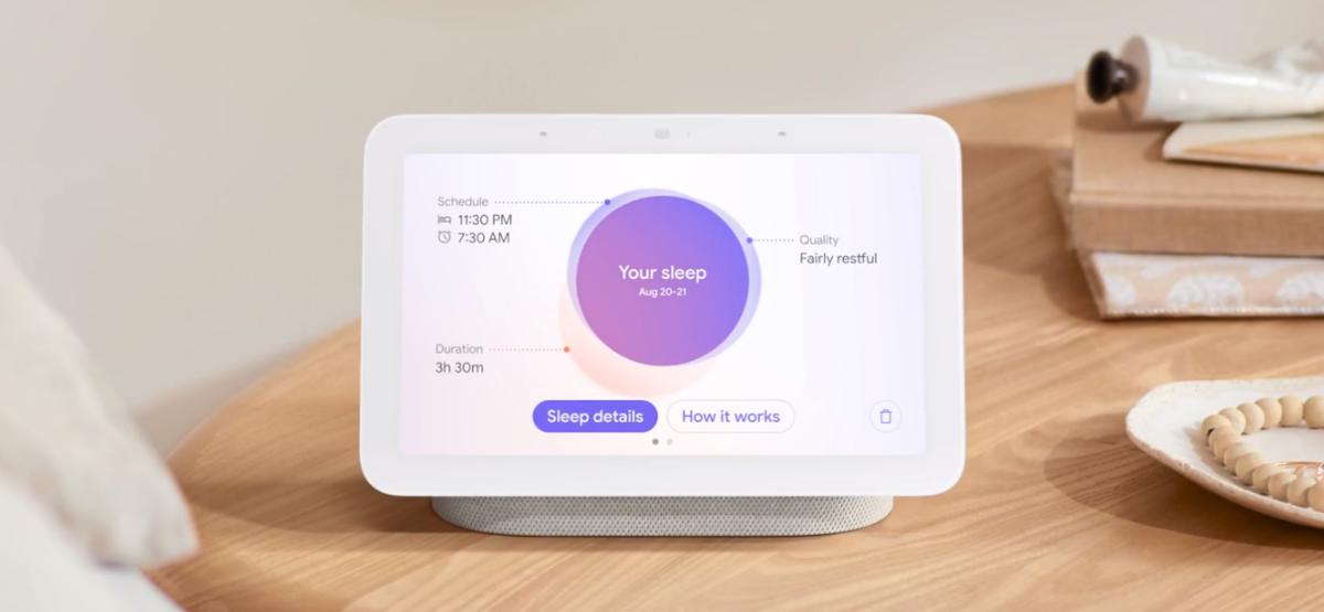 google nest hub sleep report