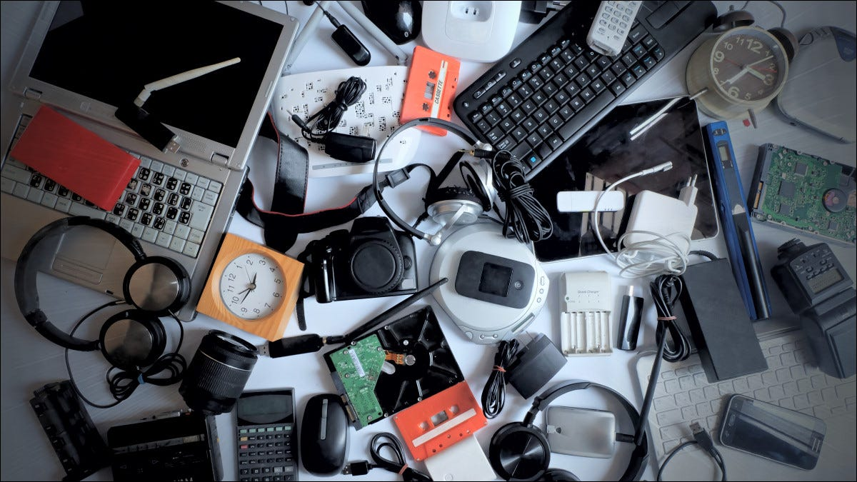A pile of obsolete gadgets.