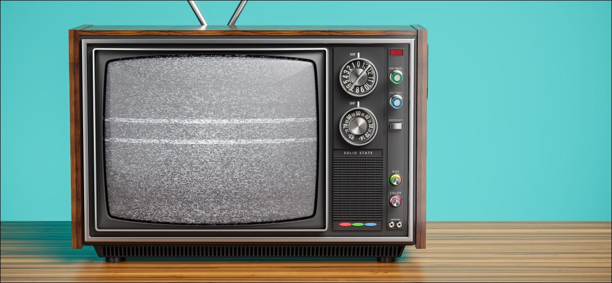 An old black and white TV.
