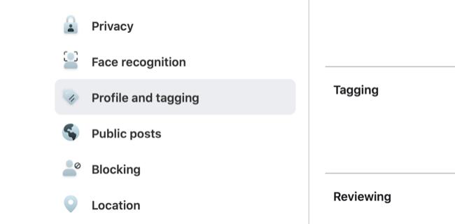 Access Facebook Profile & Tagging Settings