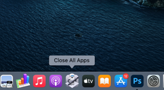 How to Quit All Open Apps with a Single Click on Mac