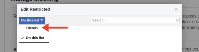 Restrict Friend on Facebook
