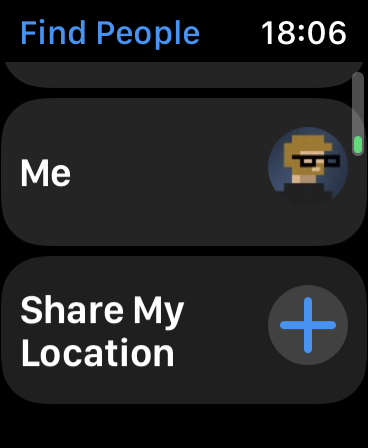Partager ma position via Apple Watch