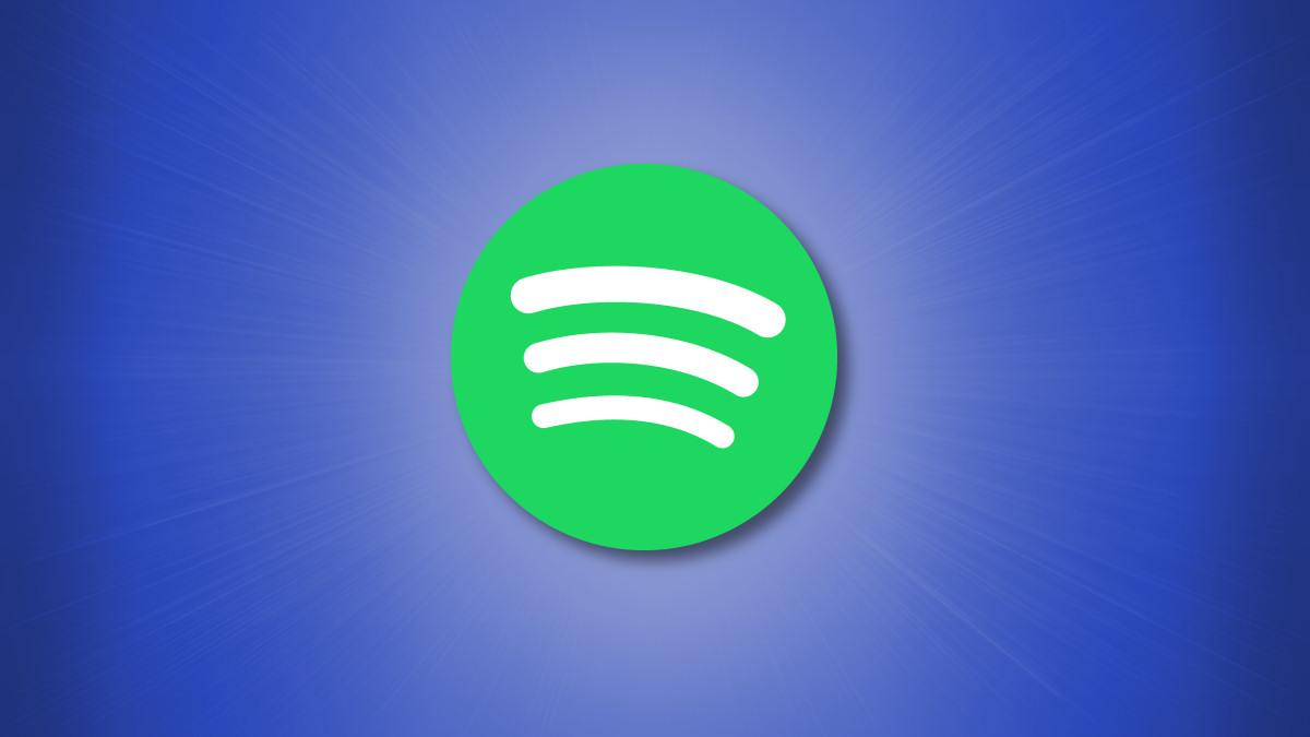 Spotify Logo on a blue background