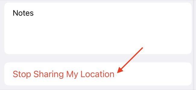 Arrêter de partager la position avec Apple Contact