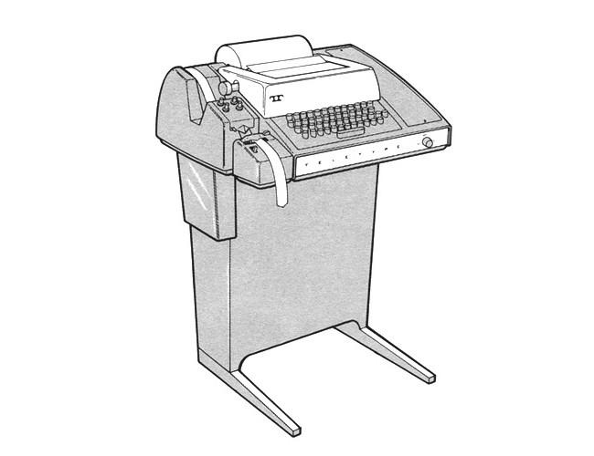 An illustration of Teletype Model 33.