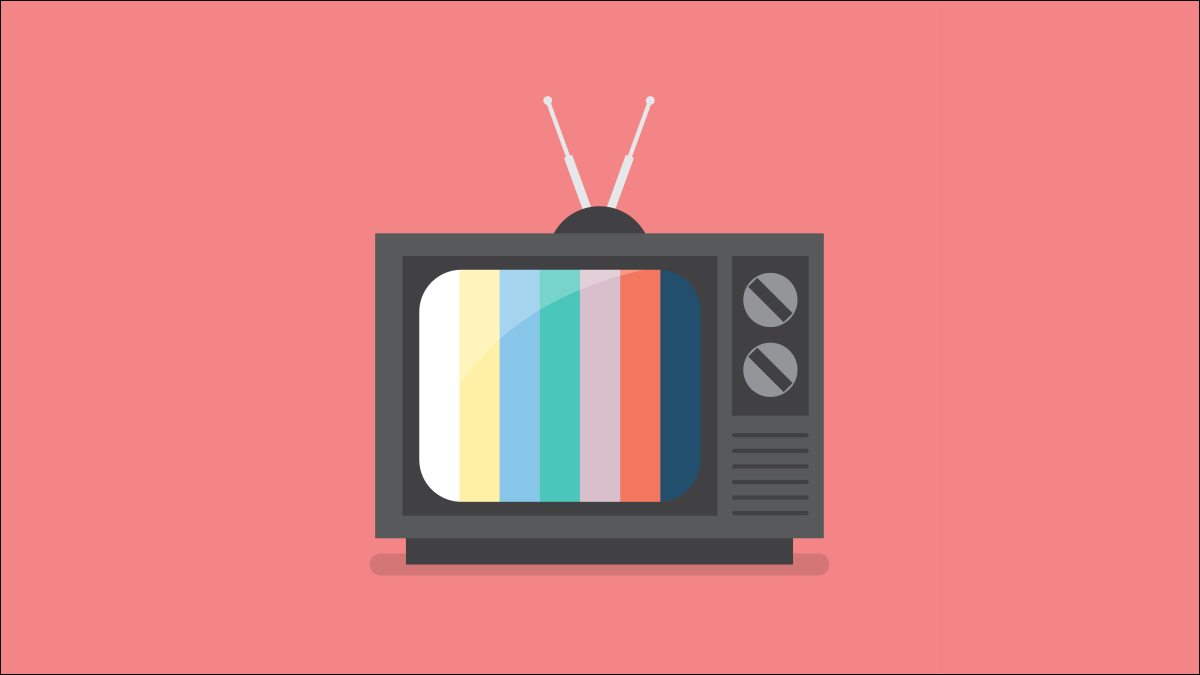 A stylized image of a retro television.