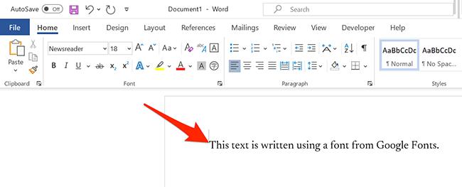 Печатайте шрифтом Google в Microsoft Word.