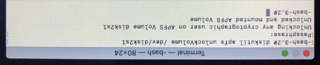 Unlock FileVault Partition Using Terminal