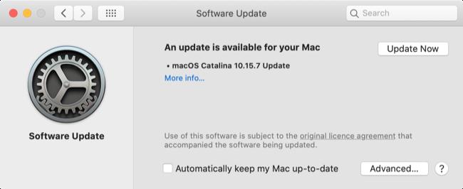 Update Safari via Software Update