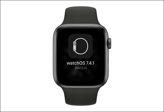 Apple Watch shows an available update.