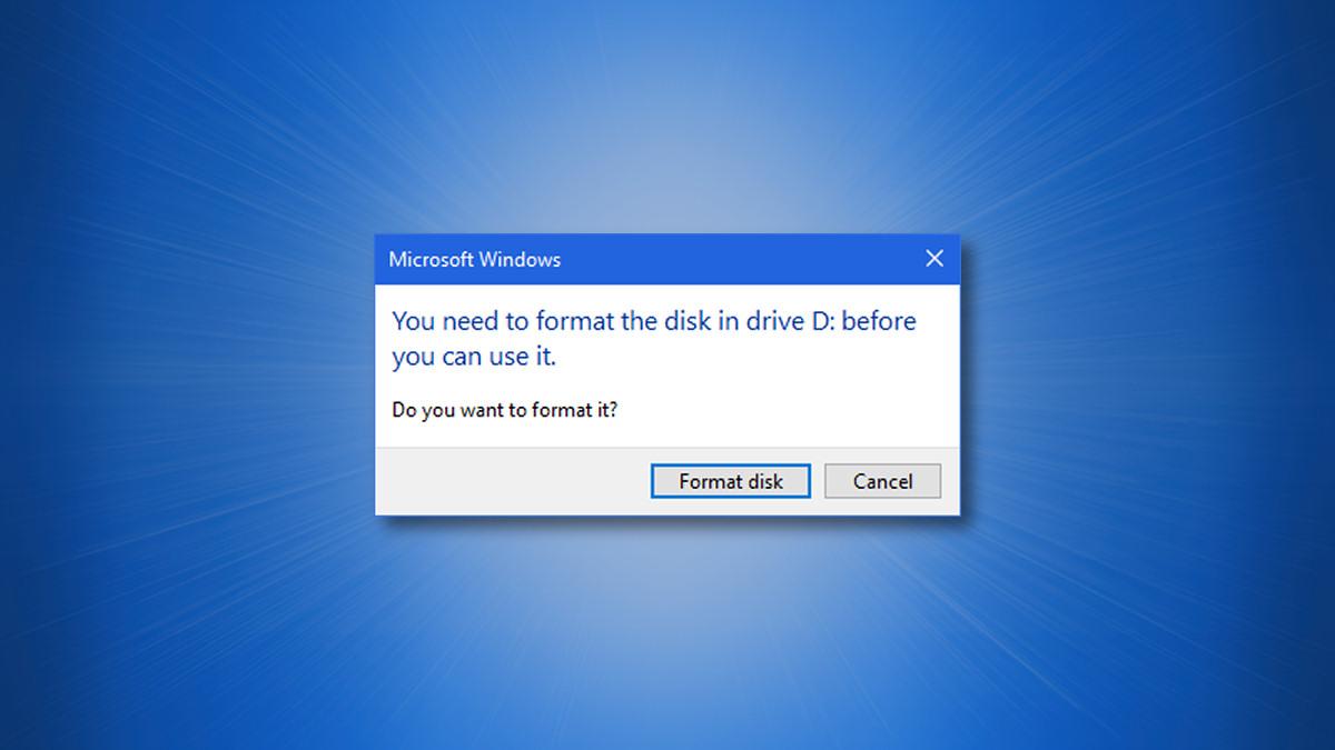 The Windows 10 Format Drive Dialog