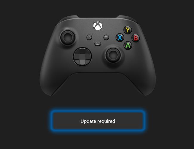 Беспроводной геймпад Xbox можно обновить с помощью ПК с Windows 10.  Нажмите «Обновить», чтобы начать процесс.