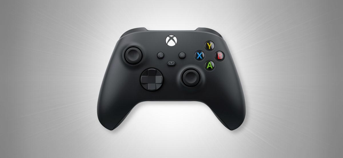 Bộ điều khiển không dây Xbox trên Gray Hero