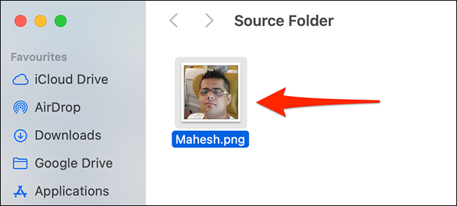 Copy an item in a Finder window.