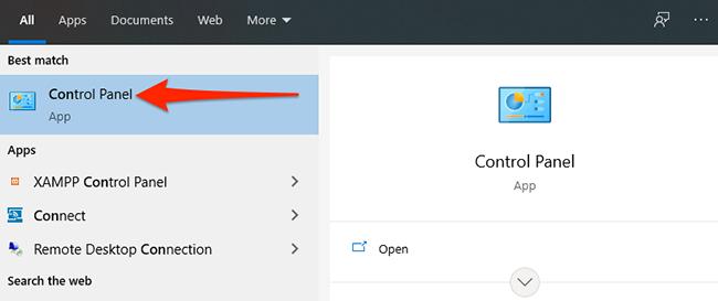 "Click ""Control Panel"" in the ""Start"" menu."