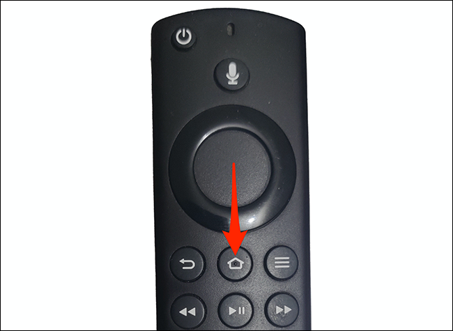 Press the Home button on the Fire TV remote.