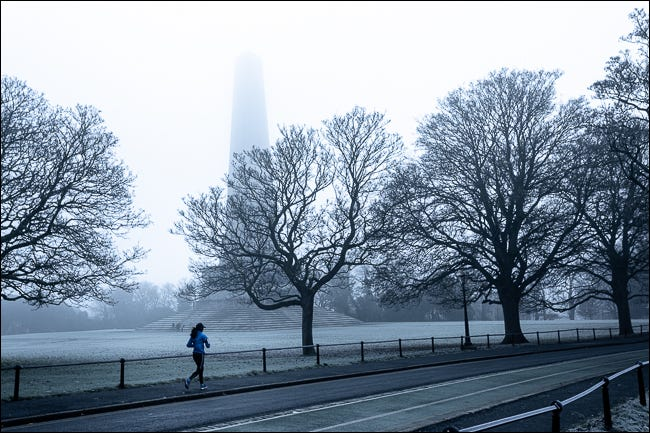 misty monochrome day