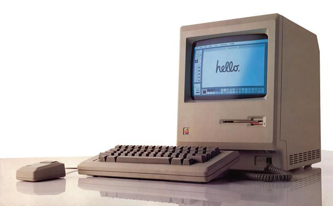 A photo of the original 1984 Macintosh.