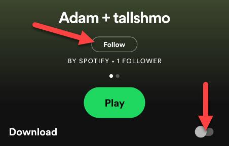 Playlist options.