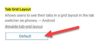 Выберите раскрывающееся меню для Layout Grid Layout.