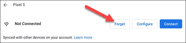 """Click the """"Forget"""" button."""
