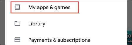"""Select """"Apps & Games."""""""
