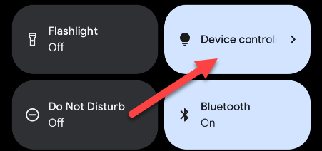 """Tap the """"Device Controls"""" tile."""