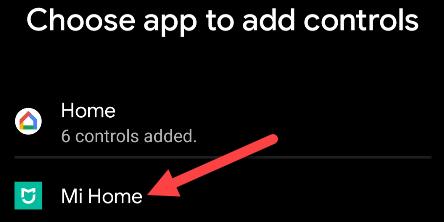 Select an app.