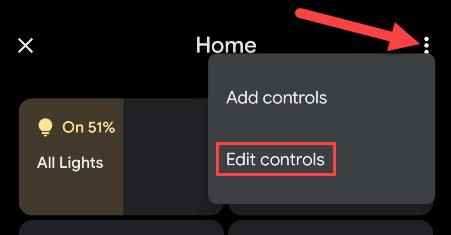 """Tap the menu and select """"Edit Controls."""""""