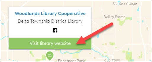 """Select """"Visit Library Website."""""""