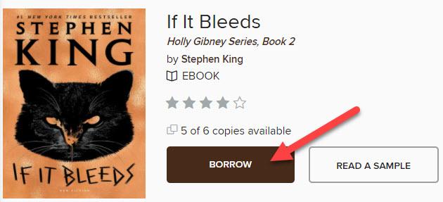 """Now simply click the """"Borrow"""" button."""