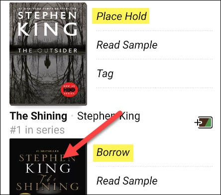 """Borrow"" a book."