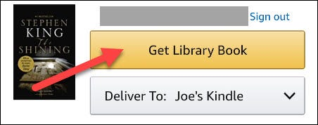 """Tap """"Get Library Book."""""""