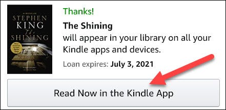 Read Now in the Kindle App