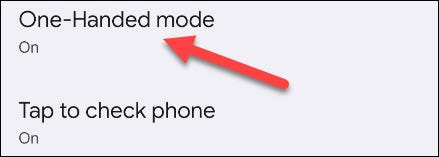 """Lastly, go to """"One-Handed Mode."""""""