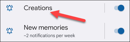 Select the channel associated with the type of notification you want to minimize.