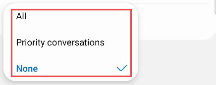 Choose the conversation options.