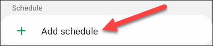 """Under the """"Schedule"""" section, select """"Add Schedule."""""""